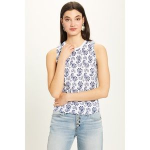 Goldie Blue Paisley Ringer Tank Small